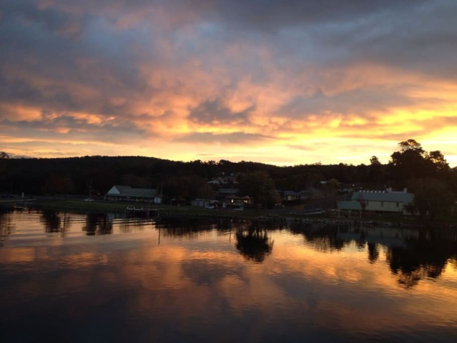 Nelligen sunset - at Nelligen Bridge