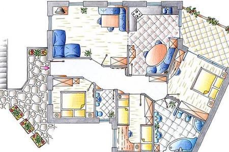 Spacious apartment near Seceda lift - Ortisei