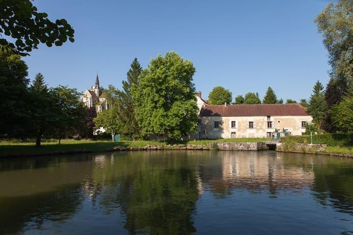 Chambre Verte au Vieux Moulin - Mareuil-sur-Ourcq - Bed & Breakfast