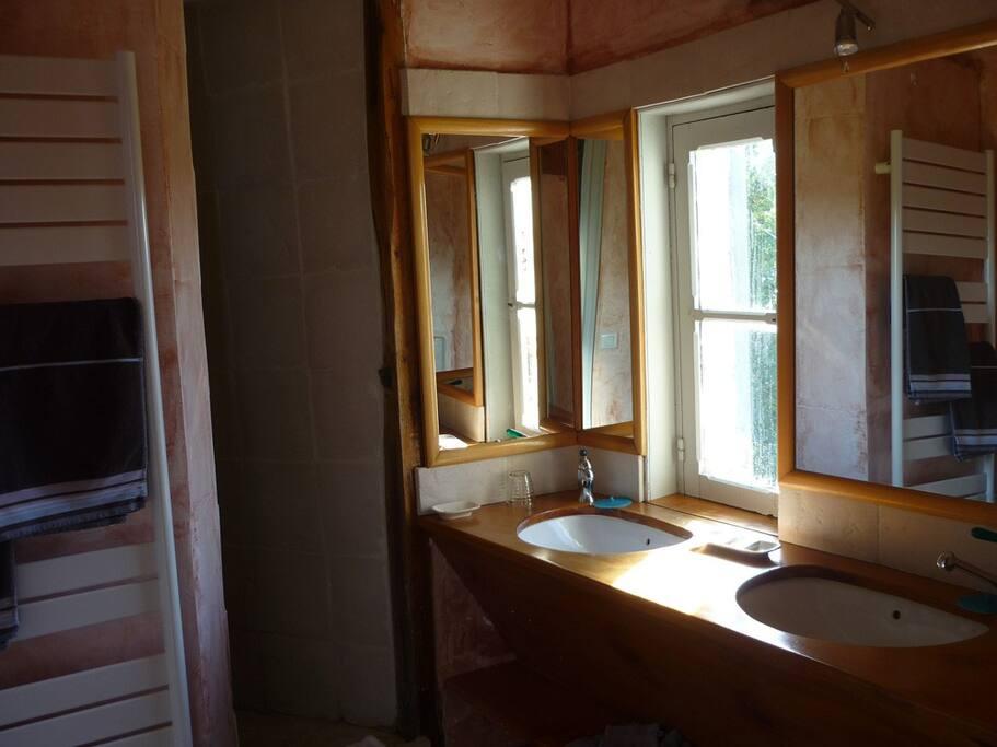 La salle de douche de la chambre Piolant