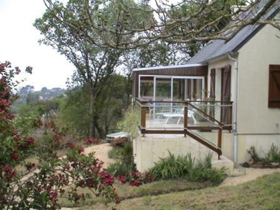 Terrasse et véranda sur jardin