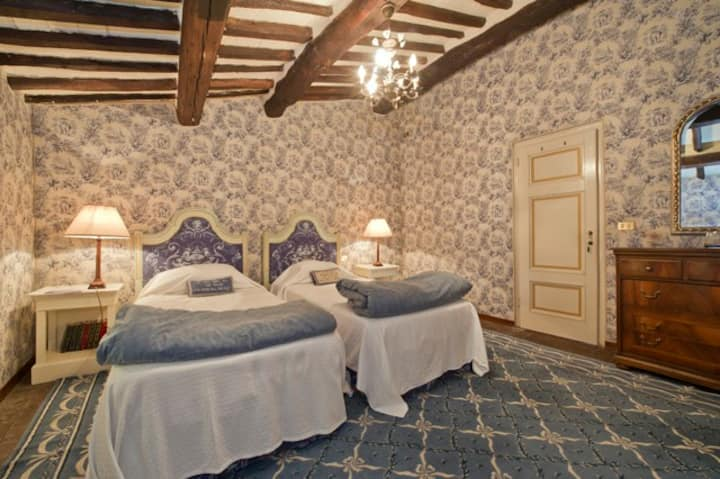 Napoleone Room - In a Historical Villa in Tuscany