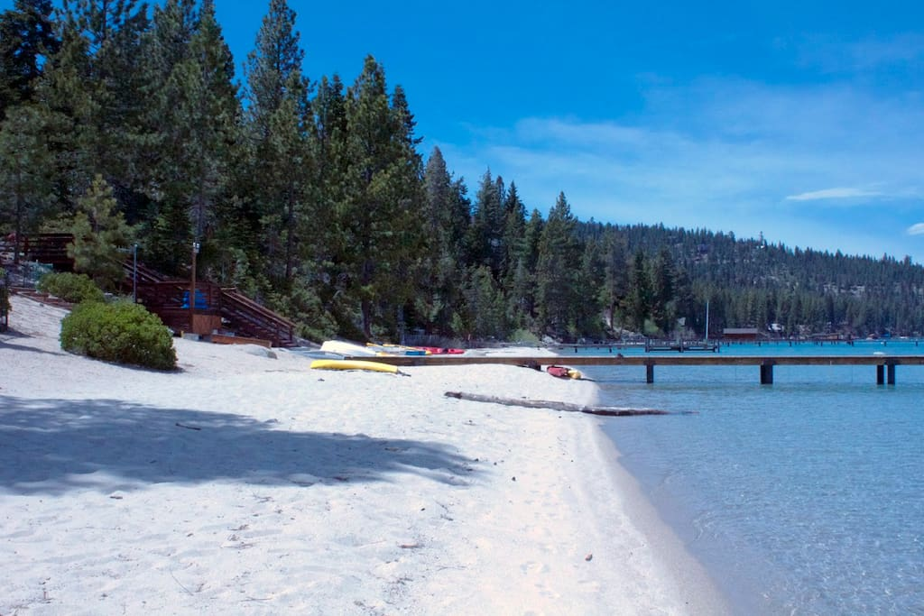 When you rent with us, you're a member of this private beach.  Yep, it's white powdery sand!