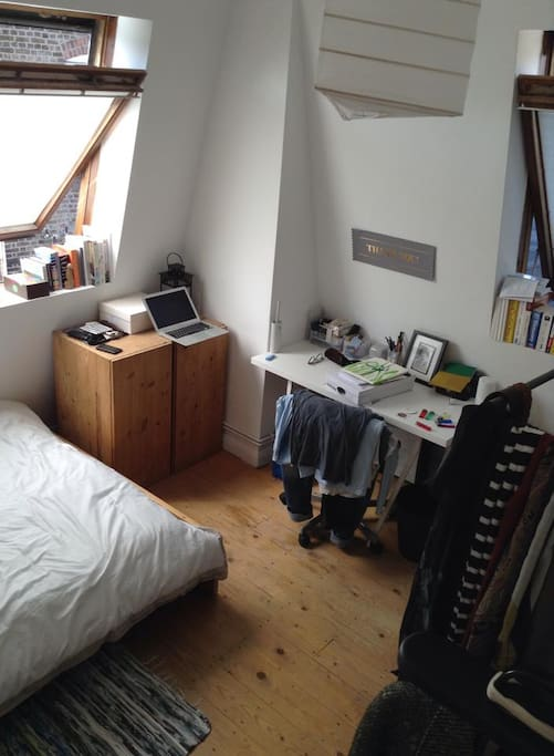 The room, fresh spacious and airy.