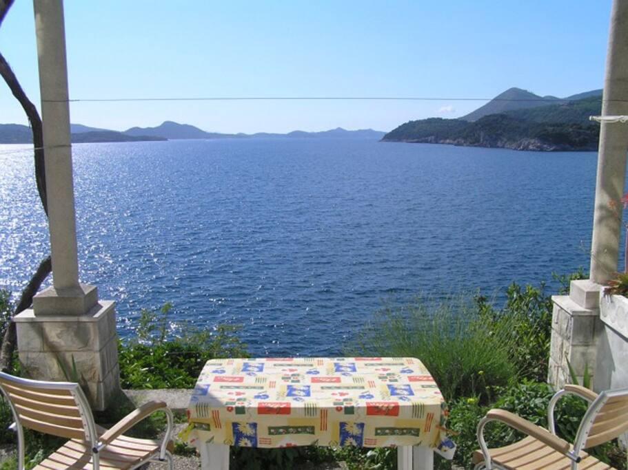 Beautiful 180° panorama sea view from Apartment B terrace