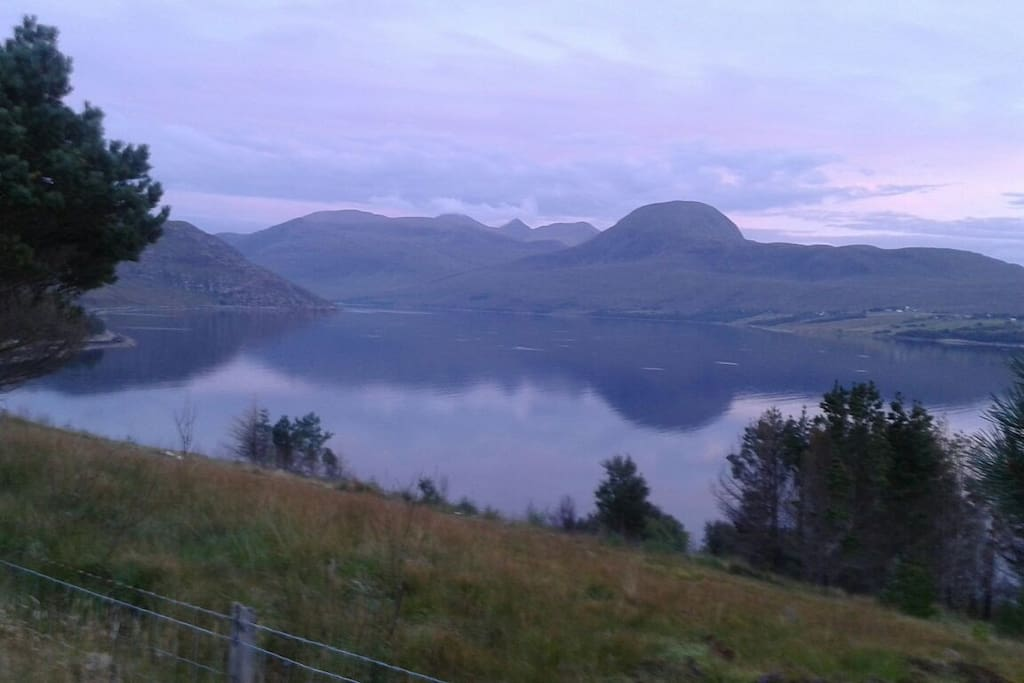 Lilac light on Little Loch Broom