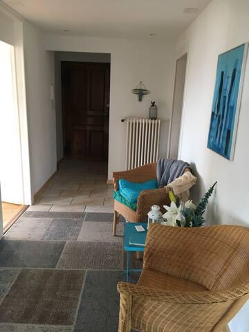 Chambre 1 personne avec douche et wc  privatifs dans un appartement charmant
