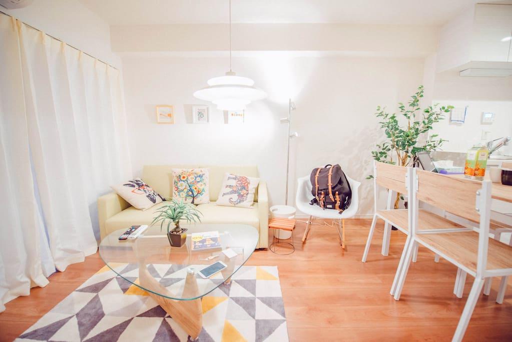 bright room宽敞明亮的房子