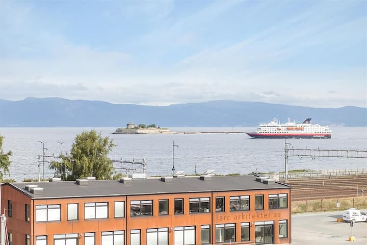 A flat in the center with fjords view