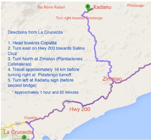 Map from La Crucecita
