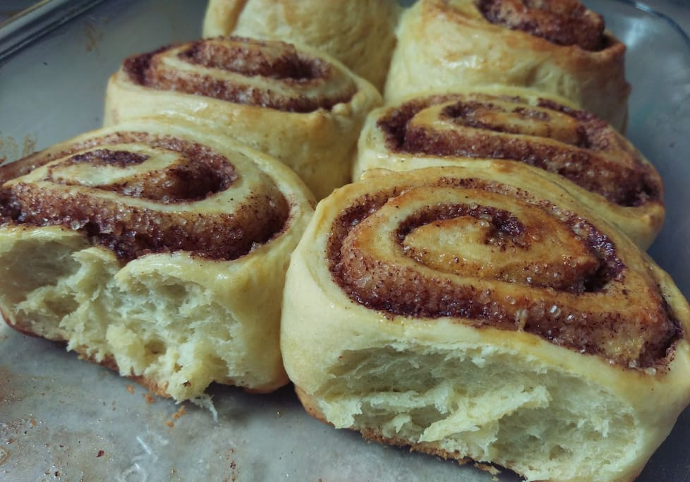 we make the pastries ourselves, including these cinnamon rolls ... available for some additional fees