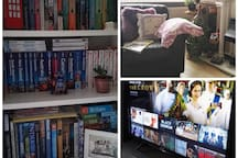 Bad weather or just fancy to chill out: grab a book or watch Netflix