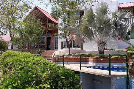 Beautiful Cabin near the Beach! (Cabaña Campestre) - Juan de Acosta - Rumah