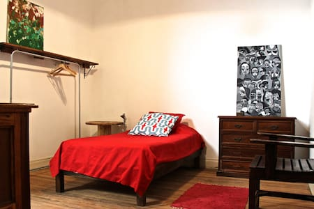 Twin size bed in large patio flat - Buenos Aires