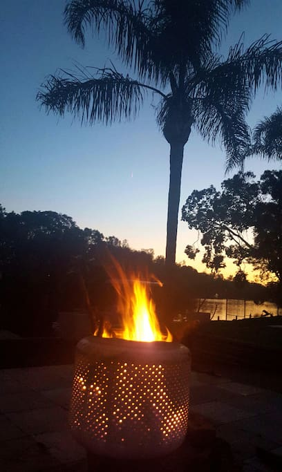 Fire pit at sunset ahhh