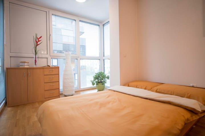 Queen size double bed (120 x 200 cm)