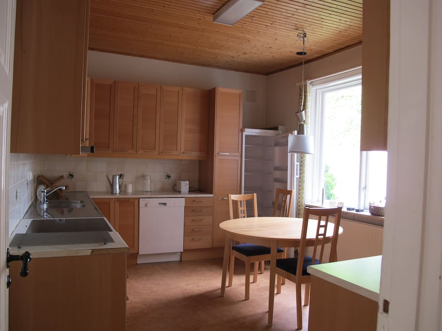 Spacious, fully stocked kitchen (now has table & chairs that seat 6 people)