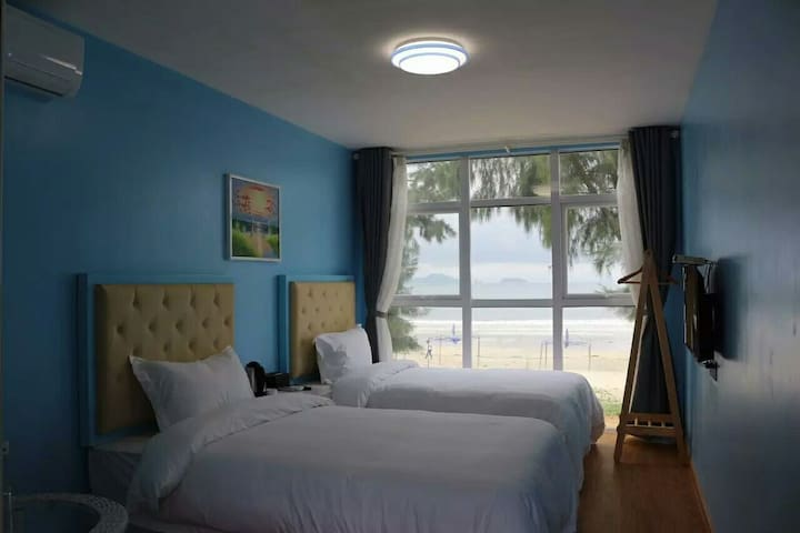 海景双床房 睡在床上看海 - 双月湾 - Pis