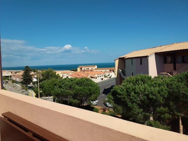 Top appartement vue sur mer à Saint Pierre la Mer