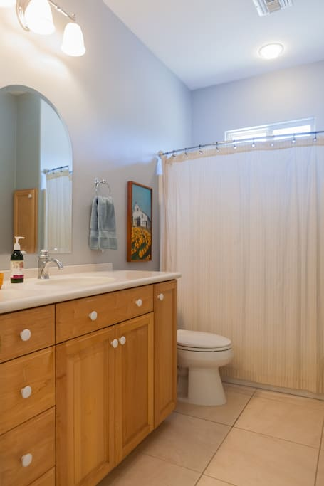 Private full bath in private wing of house.