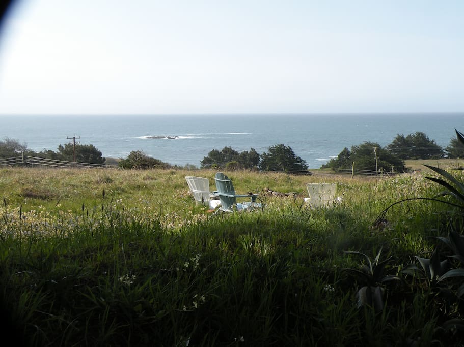 views to ocean and open nature space