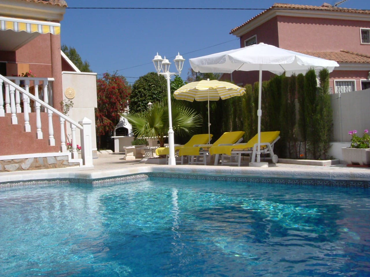 Pool area. The pool is exclusive for the house. 6*4 m
