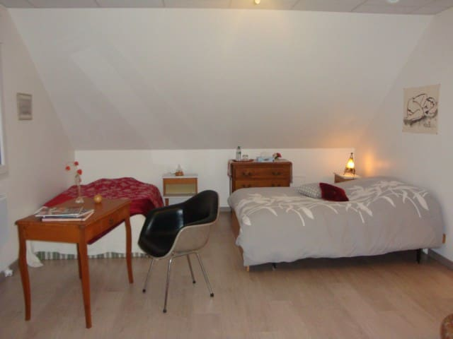 bel espace cosy et spacieux avec SDB contigüe