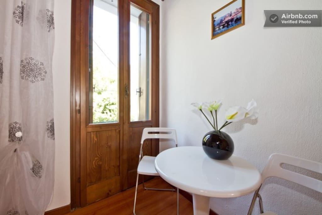 Small balcony with views of the River Brenta