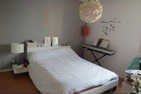 Chambre calme et avec grand lit . - Brunoy