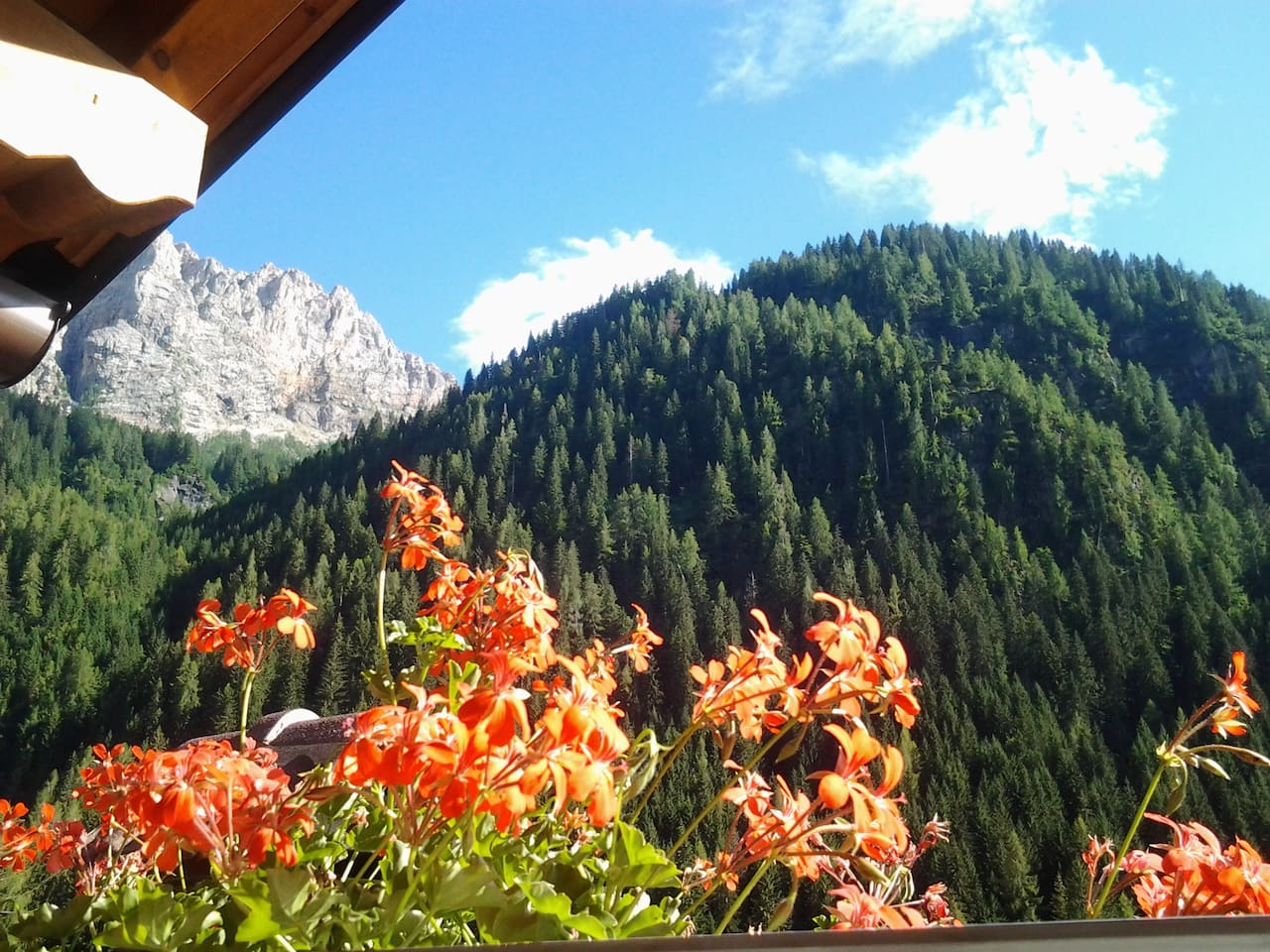 Le Palue - stunning view on mountain Sasso Bianco