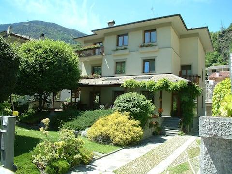 B&B in villa tussen Tirano en Bormio