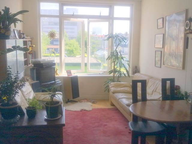 Living Room w view to childrens farm