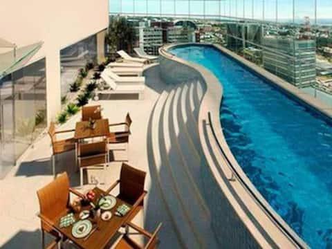 Flat moderno e confortável no coração de Brasília
