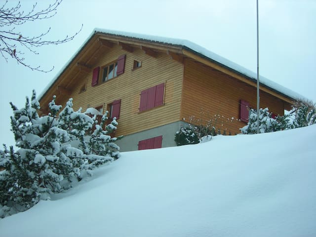 My Swiss Ski Chalet sleeps 10 (12 at a squeeze) - Flums