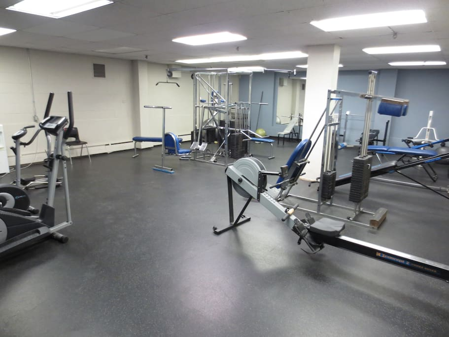 Our well-stocked fitness center