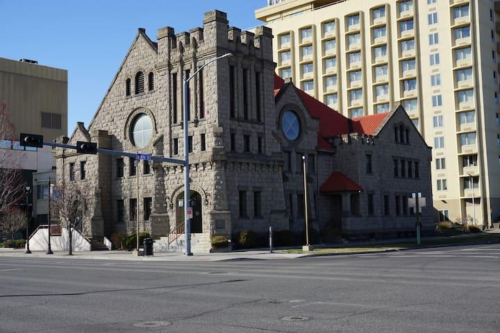 NEW Apt 201 Newly Built Historic Church Downtown