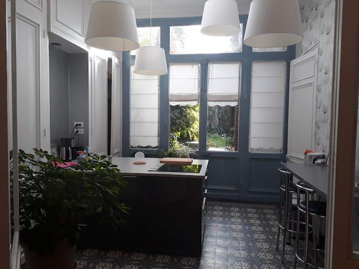 Roubaix Appartement de charme RdC avec jardin