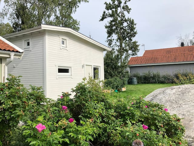 Newly built tiny house south of Stockholm