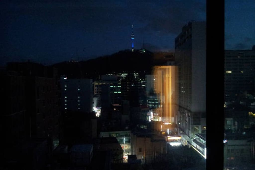N-Seoul tower from our hostel.