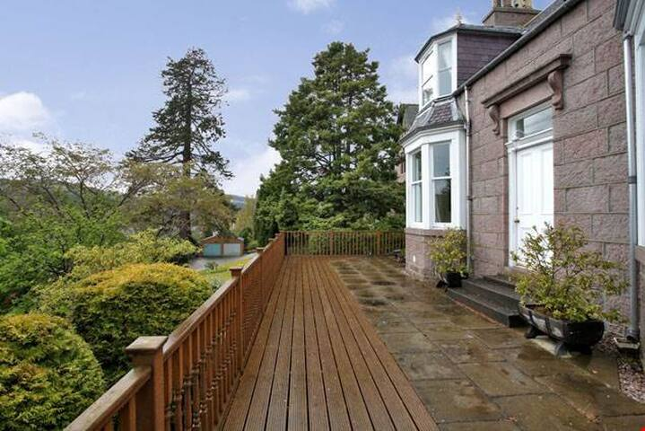 Stunning Royal Deeside village home with a view.