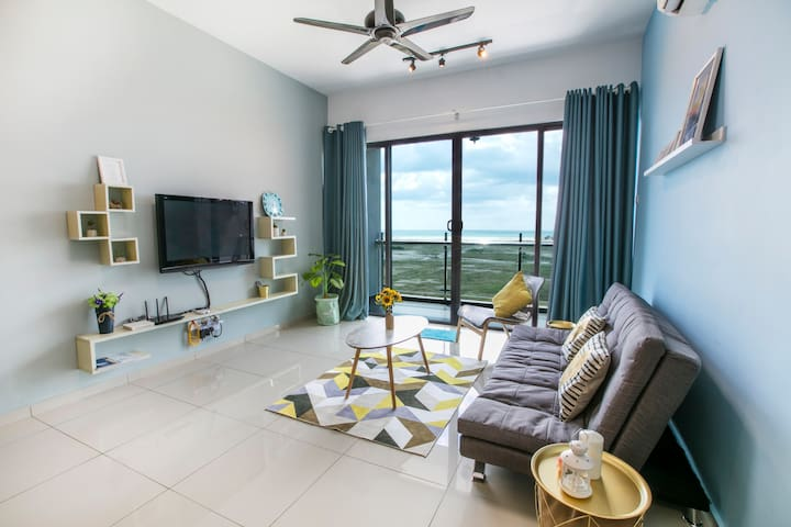 S1Cozy Family Suites 4-5pax/Seaview/TV Box/Malacca