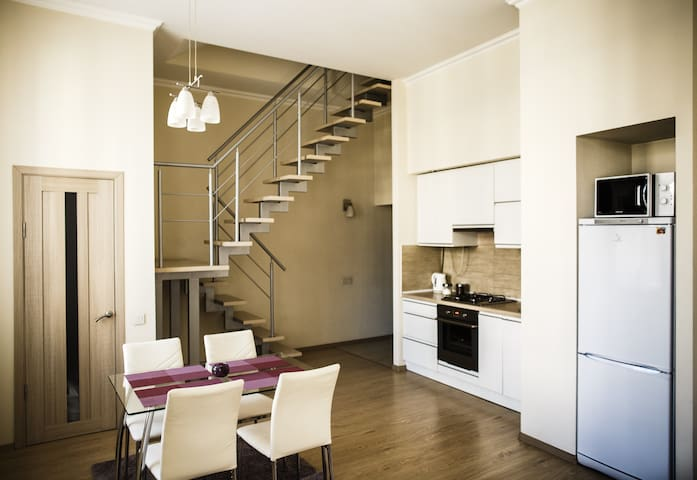 Duplex apartments in the old center of Lviv