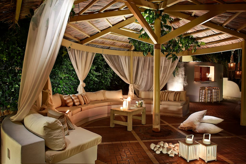 private gazebo with stunning sea view