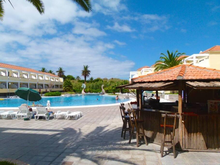 The bar at the pool