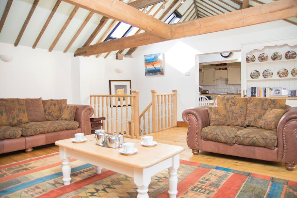 Fabulous, spacious lounge with lots of character and quirky features