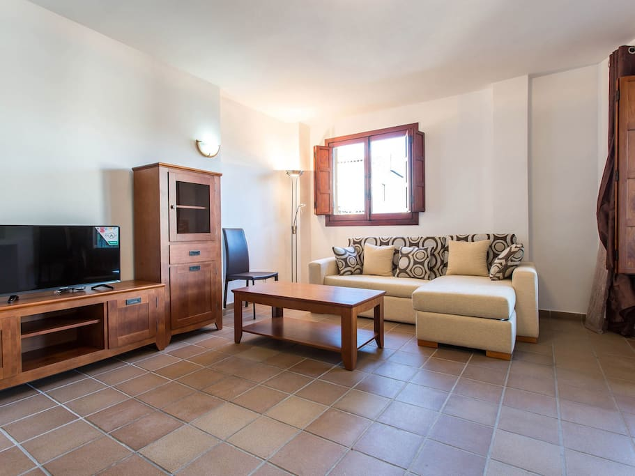 Vista del salón del apartamento en Panorama Park de Punta Prima, Torrvieja.