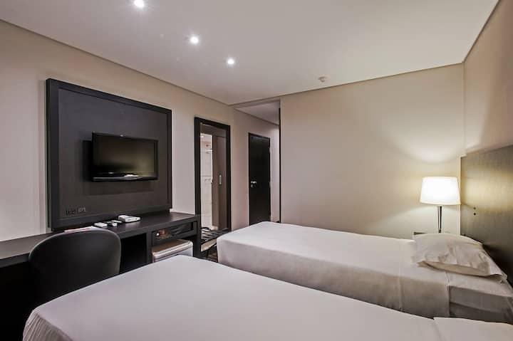 Av. Beira Mar Norte, 2 camas, piscina e café manhã