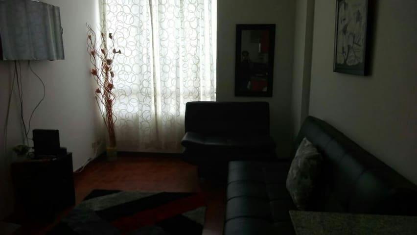 Sala con TV y sofacama.