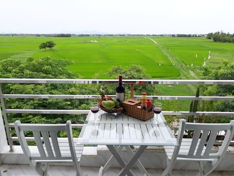 Fantastisk utsikt över landet - Privat dubbelrum