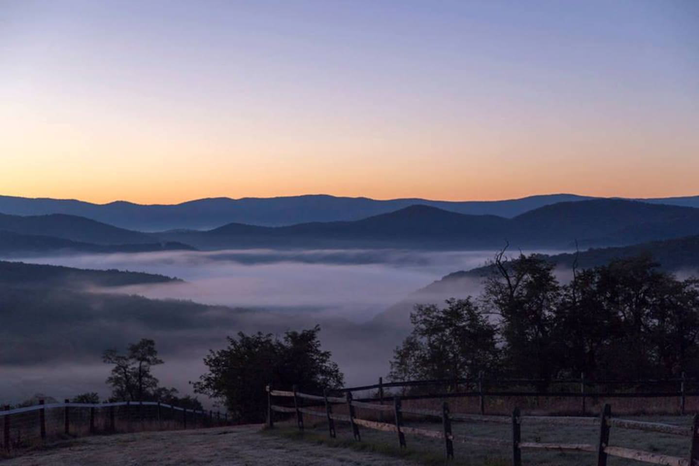 A short hike from your cabin, Catch the Sunrise, or sunset.